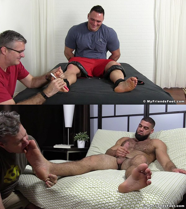 Karl Tickled & Ricky Larkin Foot Worshiped 01