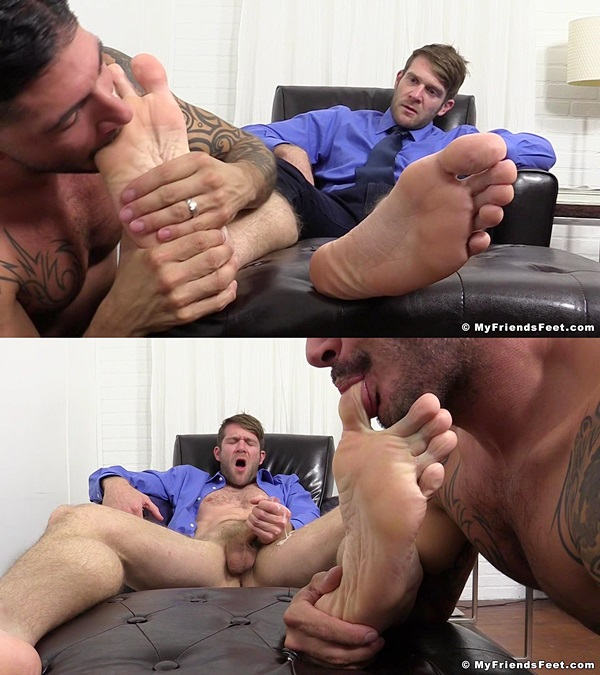 Myfriendsfeet - Johnny Hazzard Worships Colby Keller 01