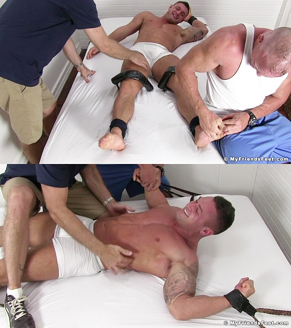 Myfriendsfeet - Muscle Jock Brad Barnes Tickled 01