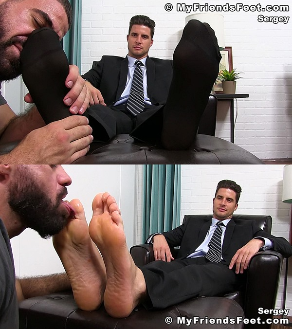 Myfriendsfeet - Suited Sergey Sheer Socks Serviced 01