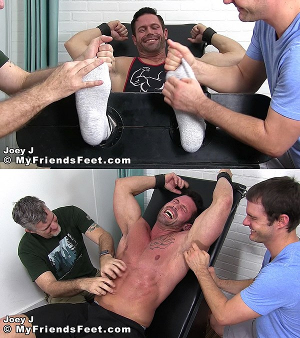Myfriendsfeet - Muscleman Joey Destroyed By Tickling 01