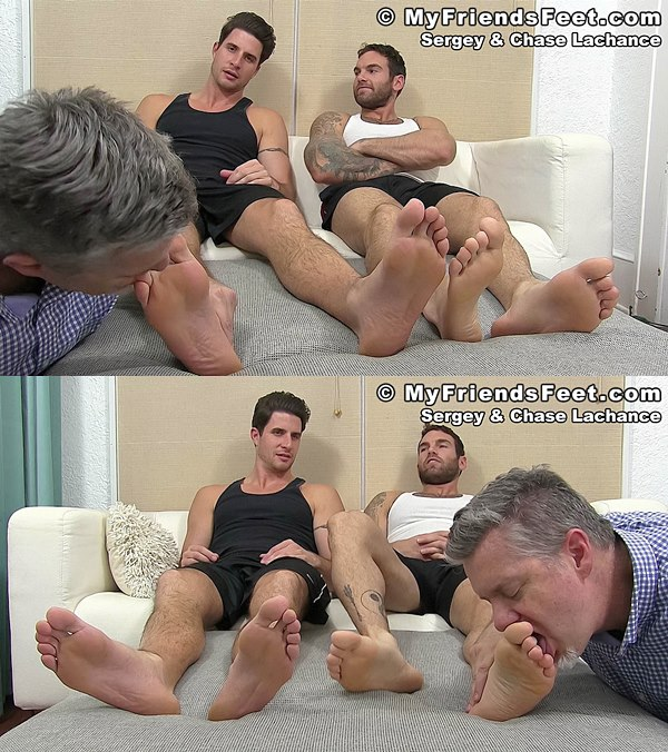 Myfriendsfeet - Chase Lachance and Sergey Worshiped 01