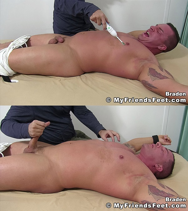 Myfriendsfeet - Muscle Stud Braden Charron Jerked and Tickled 01